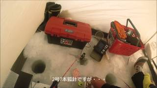 Repeat youtube video 2014.2.21 氷上ワカサギ釣り 糠平湖