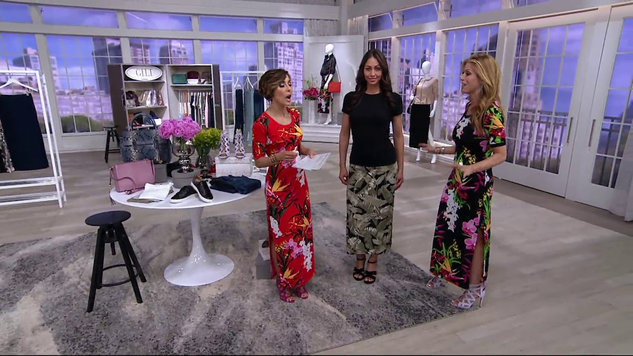 b0b89dec39 G.I.L.I. Jetsetter Side Slit Maxi Skirt on QVC - YouTube