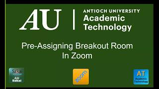Pre-Assigning Breakout Rooms in Zoom