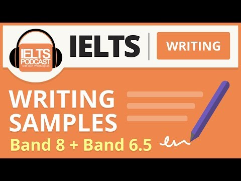 IELTS Writing: Band 8 and Band 6.5