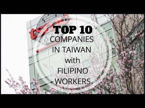 Top 10 Companies In Taiwan With Filipino Workforce