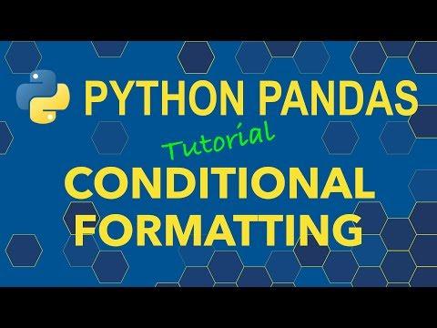 Python Pandas DataFrame Styles And Conditional Formatting