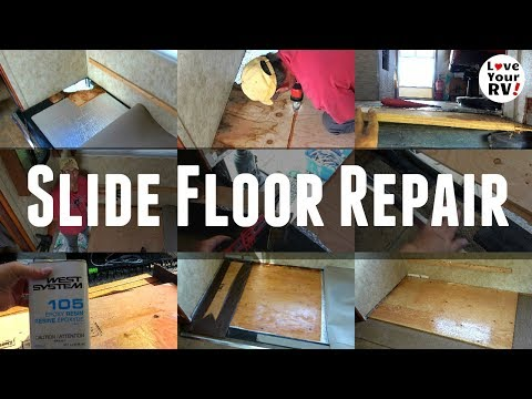 Rotted RV Slide Out Floor Repair - Fixed Manufacturer Flaw