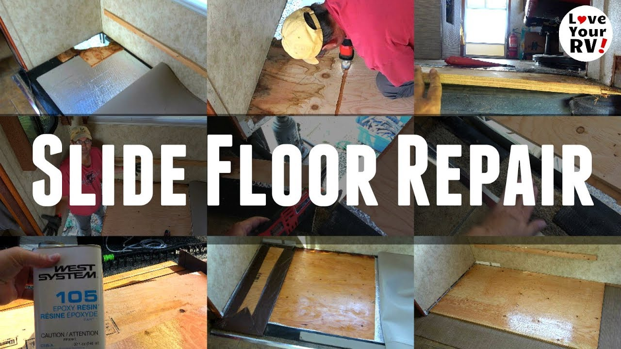 Rotted Rv Slide Out Floor Repair Fixed Manufacturer Flaw Youtube