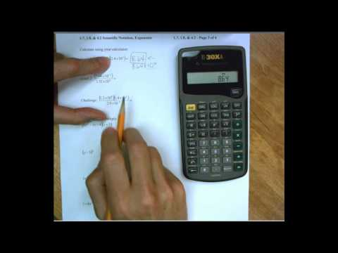 1.8 Scientific Notation on the calculator