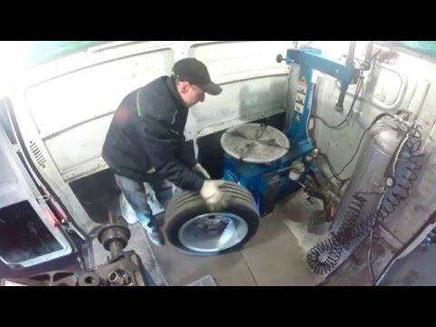 Работа установки мобильного шиномонтажа спецверсия для Ducato SMB