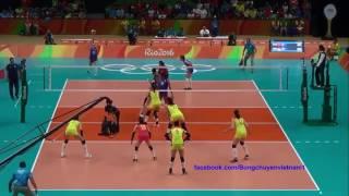 中国女排对塞尔维亚,2016里约奥运会决赛 全屏 全过程 固定镜头