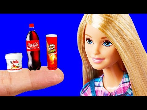 9 DIY Ideas and Barbie Diy Crafts : Mini Food, Barbie Dress and More Miniature Barbie Hacks