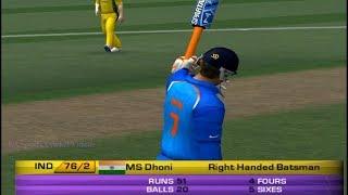 MS Dhoni 51 Runs of 20 Balls vs Australia - EA CRICKET 18 | EA Sports Cricket 07