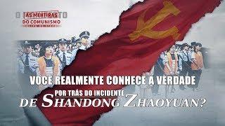 """Filme evangélico """"As mentiras do comunismo"""" Trecho 6 – Você realmente conhece a verdade por trás do incidente de Shandong Zhaoyuan?"""