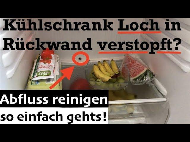 Bomann Kühlschrank Reinigen : Kühlschrank abfluss loch in rückwand verstopft reinigen so
