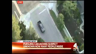 03/27/2016 Los Angeles Area Police Chase 2016 - Black Female Suspect (Action Packed)