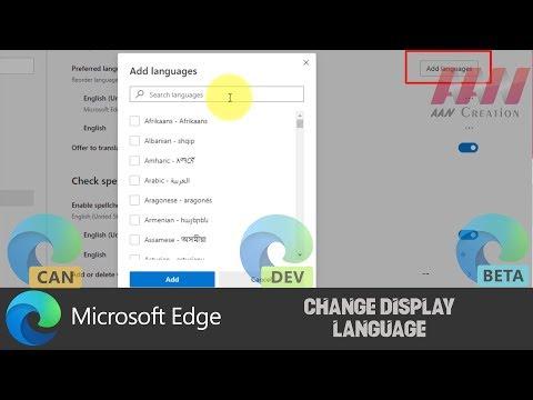 How to Change Display Language on Chromium Version of Microsoft Edge