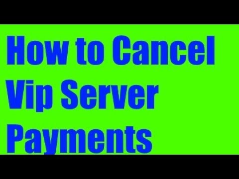 How To Cancel All Your Payments In A Vip Server Roblox Youtube