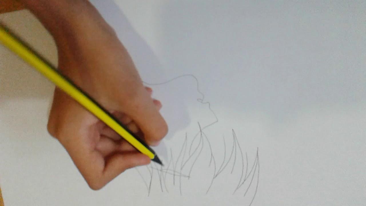 رسم انمي حزين بالقلم الرصاص ارجوا ان تعجبكم Youtube