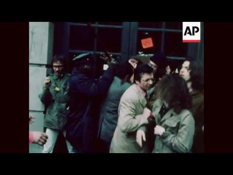 Columbia University students on strike