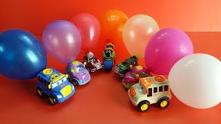 Toy Car Toys and Colorful Balloon for kids!! Learn Color with Toys