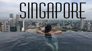 Infinity pool of Marina Bay Sands! || SINGAPORE, SINGAPORE