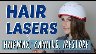 LASER THERAPY FOR HAIR GROWTH REVIEW (HAIRMAX, CAPILLUS, IRESTORE)| DR DRAY
