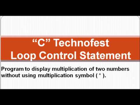 C Program Multiplication Of Two Numbers Without Using Symbol By