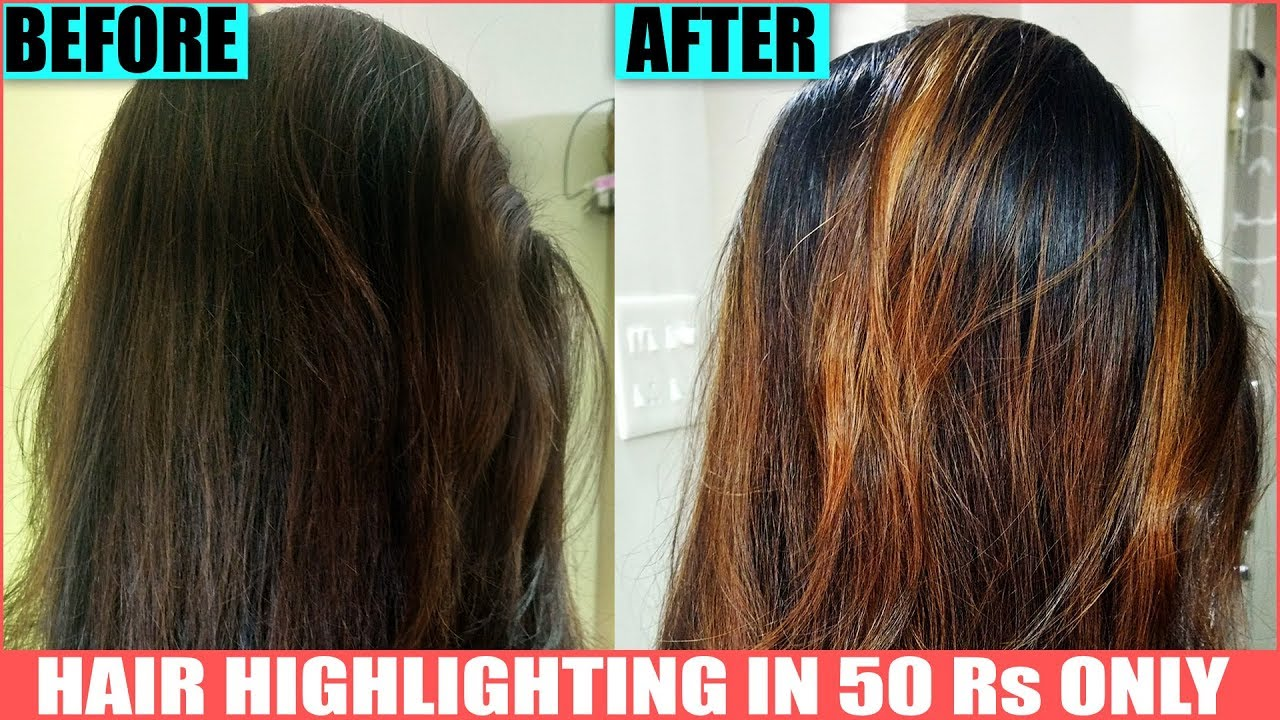 Easy Hair Highlights At Home How To Color Hair Brown Fashion Hair Color Permanent Highlights Hindi