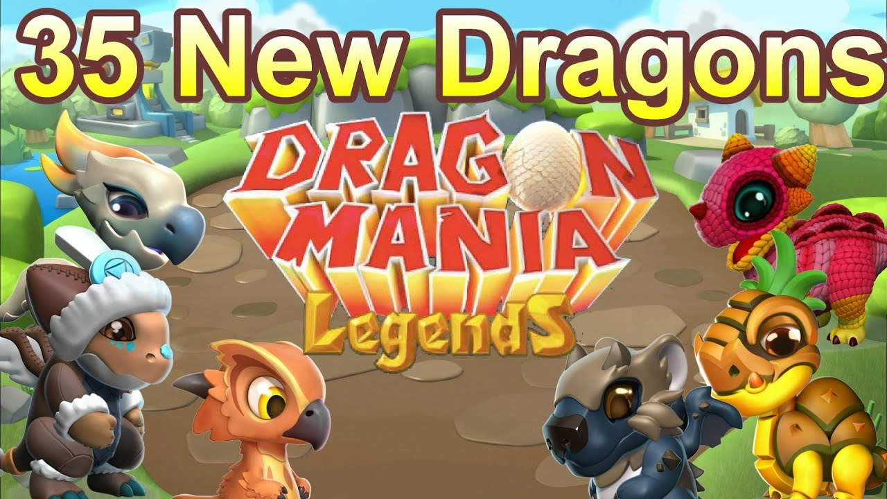 Dragon Legends: 35 NEW DRAGONS! DML Update 13