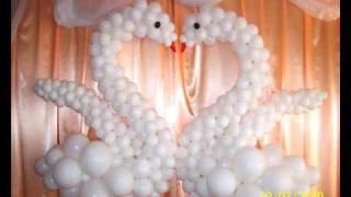 видео Украшение надувными шариками