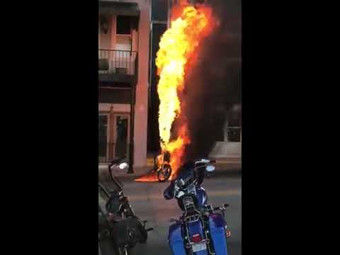 Bike on fire at BBB 2017!