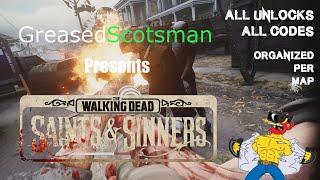 Walking Dead VR - AĻL HIDDEN UNLOCKS, ALL CODES Organized Per Map