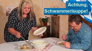 BAYERN-COMEDY: Wer traut sich an die frische Schwammerlsuppe?