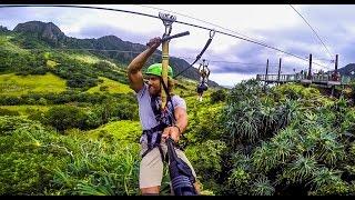 Kualoa Ranch Zipline GoPro - 0ahu, Hawaii