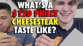 $8 Philly Cheesesteak vs $120 PHILLY CHEESESTEAK!!! | Tom Flynn