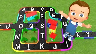 Baby Learning Alphabets with City Puzzle Toy Set Alphabets A to Z 3D Kids Fun Play Kids Educational