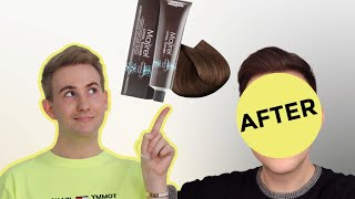 Blonde to brown L'Oréal Majirel Cool Cover 7-18 Ash mocha blonde how to at home hair colour