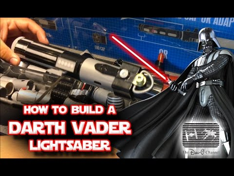 star wars build your own darth vader lightsaber toy at disneyland