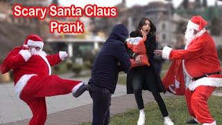 # scarysanta #prank hello dear viewers, this is our ultimate best of video so far we created! i hope you love scary human statue prank . pranked a lo...