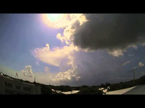 Time Lapse of Developing Showers and Thunderstorms North of Key West