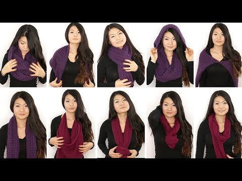 10 Ways To Wear An Infinity/ Circle Scarf | Eva Chung