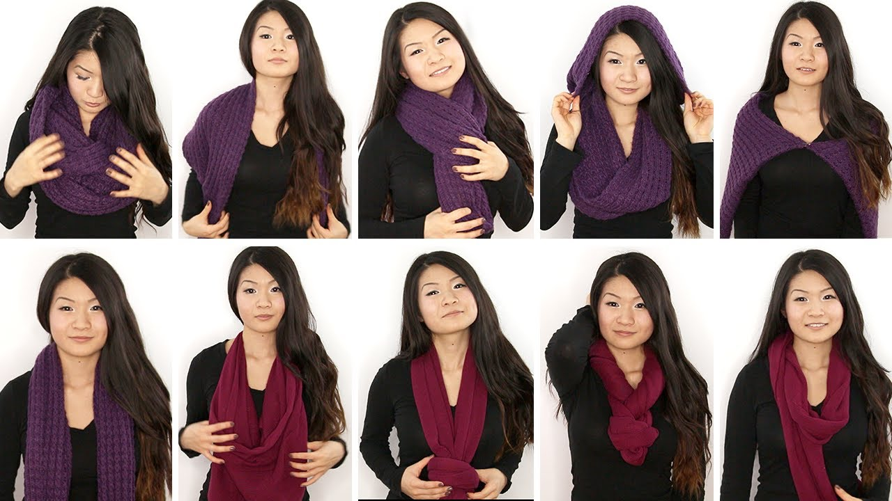 10 Ways To Wear An Infinity Circle Scarf Eva Chung