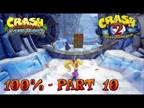 Crash Bandicoot 2 - N. Sane Trilogy - 100% Walkthrough, Part 10: Snow Biz (Gem)