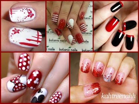 Fashion Red Nail Art 21 Best Easy Ideas Youtube
