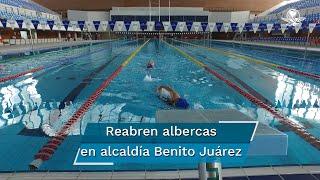 Con las medidas sanitarias establecidas por las autoridades, el día lunes la Alcaldía Benito Juárez reabrió la Alberca Olímpica Francisco Marquez