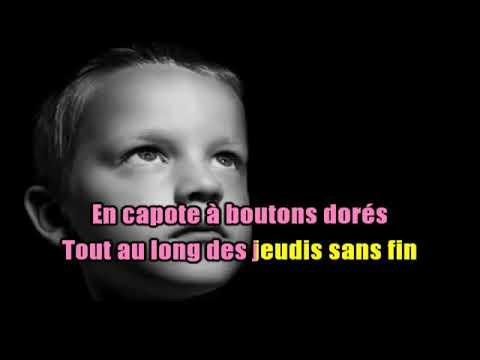 KARAOKÉ Jean Jacques Debout Les Boutons Dorés - YouTube