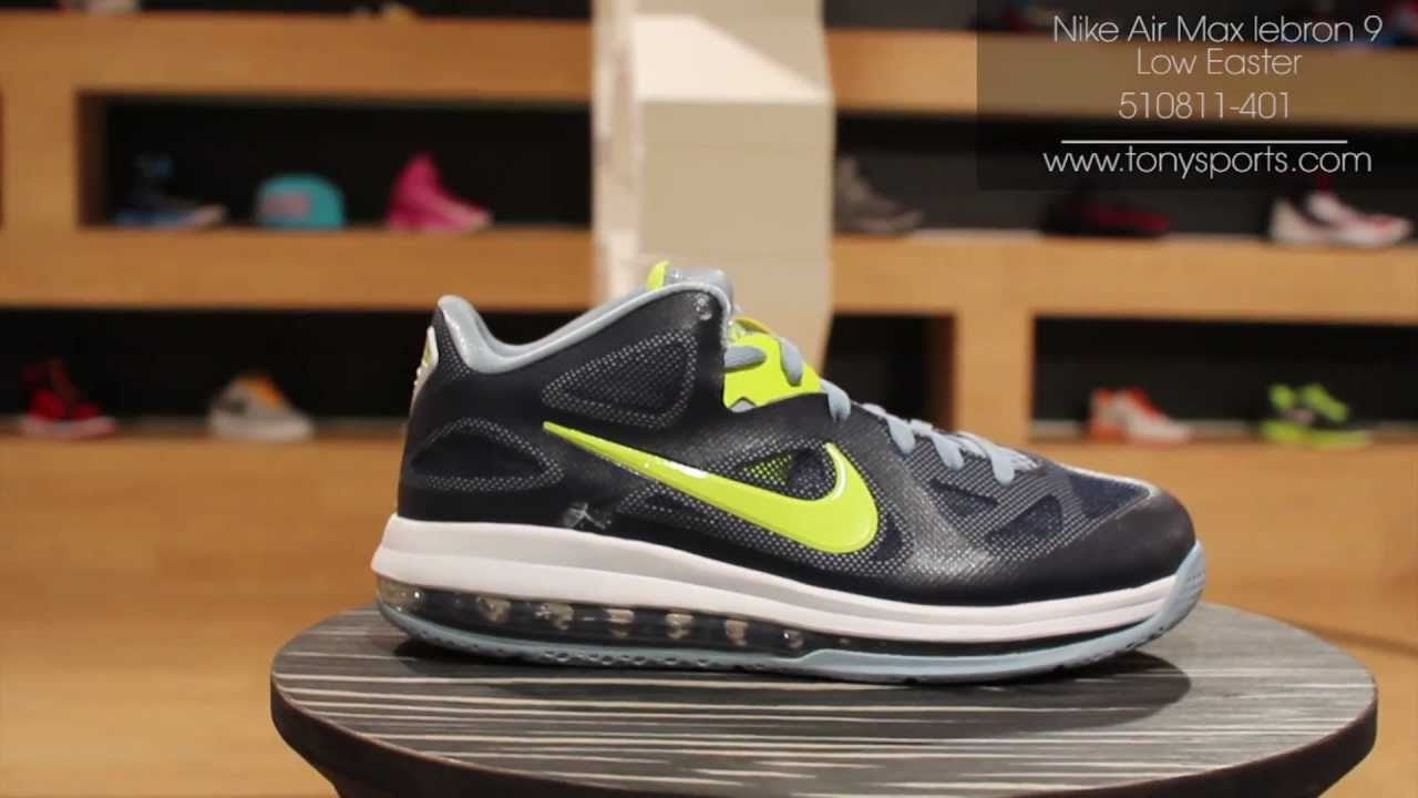 official photos d901e c4a23 Nike Air Max lebron 9 Low Easter - Obsidian Cyber White - 510811-401  www.tonysports.com