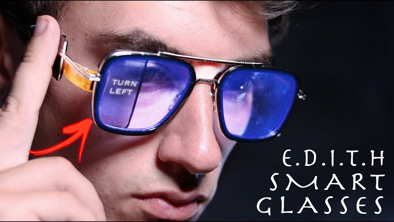 Spider-man Far From Home With Case Sunglasses Tony Stark Iron Man EDITH Glasses