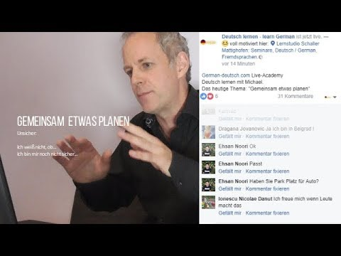 deutsch b1 test training live gemeinsam etwas planen deutsch lernen mit facebook im. Black Bedroom Furniture Sets. Home Design Ideas