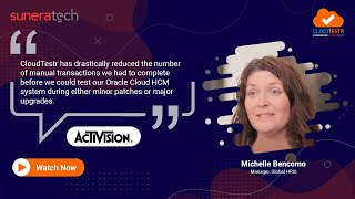 Michelle bencomo, manager, global hris at activision blizzard talks about her experience working with suneratech and how they successfully moved their worklo...