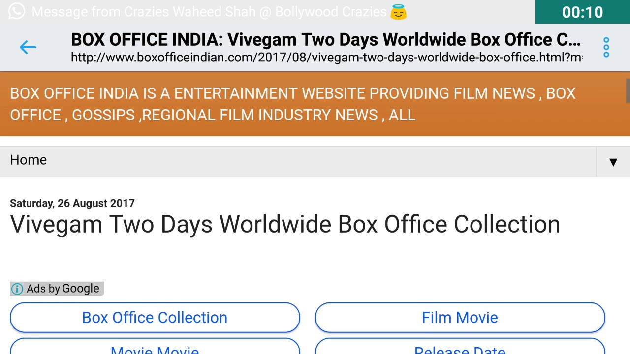 Vivegam Worldwide Box Office Collection Day 2 - YouTube