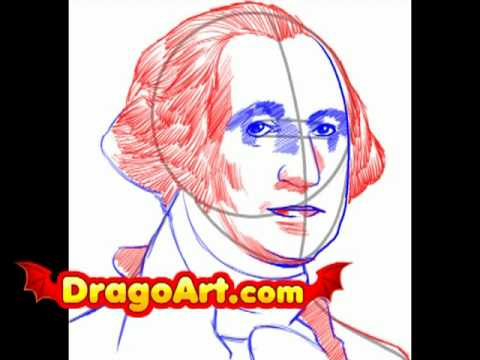 How to draw George Washington, step by step - YouTube