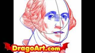 How to draw George Washington, step by step